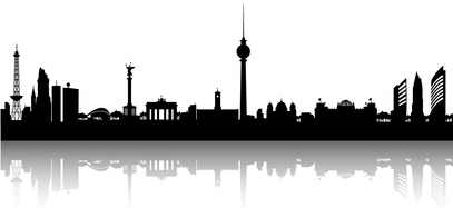 berlin skyline schwarz weiss queens and princess. Black Bedroom Furniture Sets. Home Design Ideas